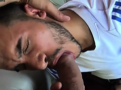 POV camera man fucking straight Latin macho stud