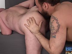 Sam Black fucks bald daddy Rob Foster
