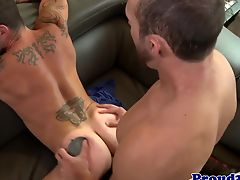 Mature jock pounding tight ass while anal fingered