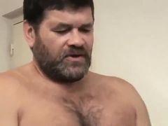 Mature bearded gay fucks latin twink